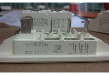 Three Phase Rectifier Electronic Components 1700V SKD51/16 Power Bridge Rectifiers