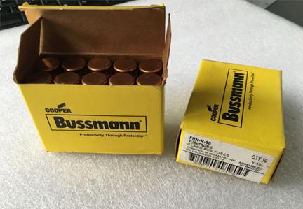 Fusetron Fuses Cartridge Fuse 30A 250V FRN-R-30 Cooper Bussmann Fuse